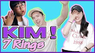 """[REAKSI] JEESUN ORANG KOREA """"Ariana Grande - 7 Rings (KIM! Cover)""""[SUB : IDN,KOR]"""