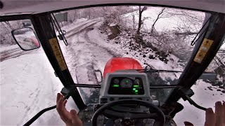 What Should I Do When Tractor Is Sliding On Ice? | Expected Snow Has Finally Begun To Fall