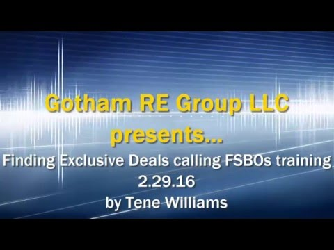 How to Find Exclusive Real Estate Deals by Calling FSBOs