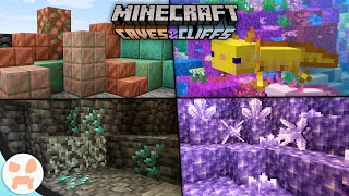 Everything in the Minecraft 1.17 Caves and Cliffs Update!