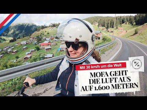 Mofa runs out of air at an altitude of 1,600 metres | Tuning at the roadside