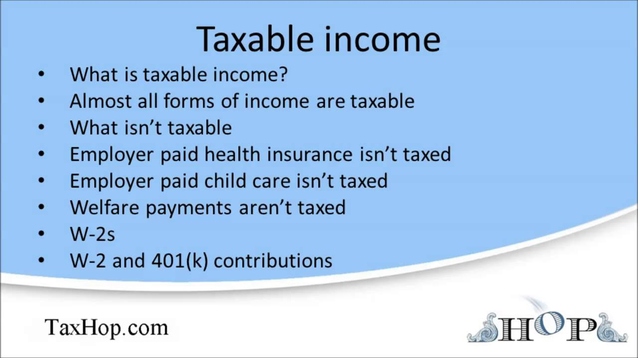 taxable income youtube