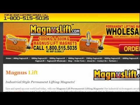 EZ Lifting Permanent Lift Magnets Magnetic Magnuslift.com 1-800-515-5035 We Ship Worldwide