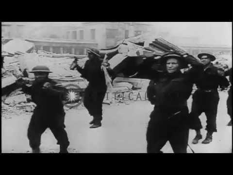 The Battle of Dieppe in World War II.  HD Stock Footage