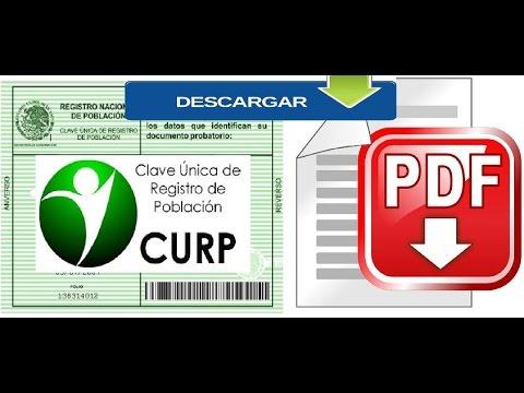 2018-Como Buscar y descargar la CURP EN PDF Rápido, Fácil y Gratis