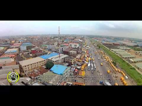 Amazing Aerial Video of Highly Populated Places in Lagos, Nigeria