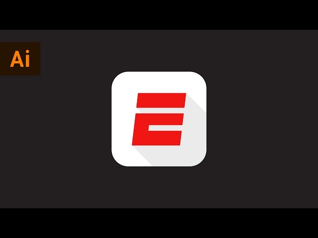 How to Make the ESPN App Logo | Illustrator Tutorial