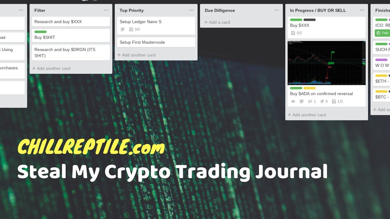 cryptocurrency trade log