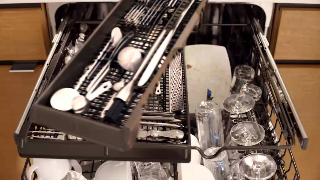 ge appliances dishwasher's full extension third rack - youtube