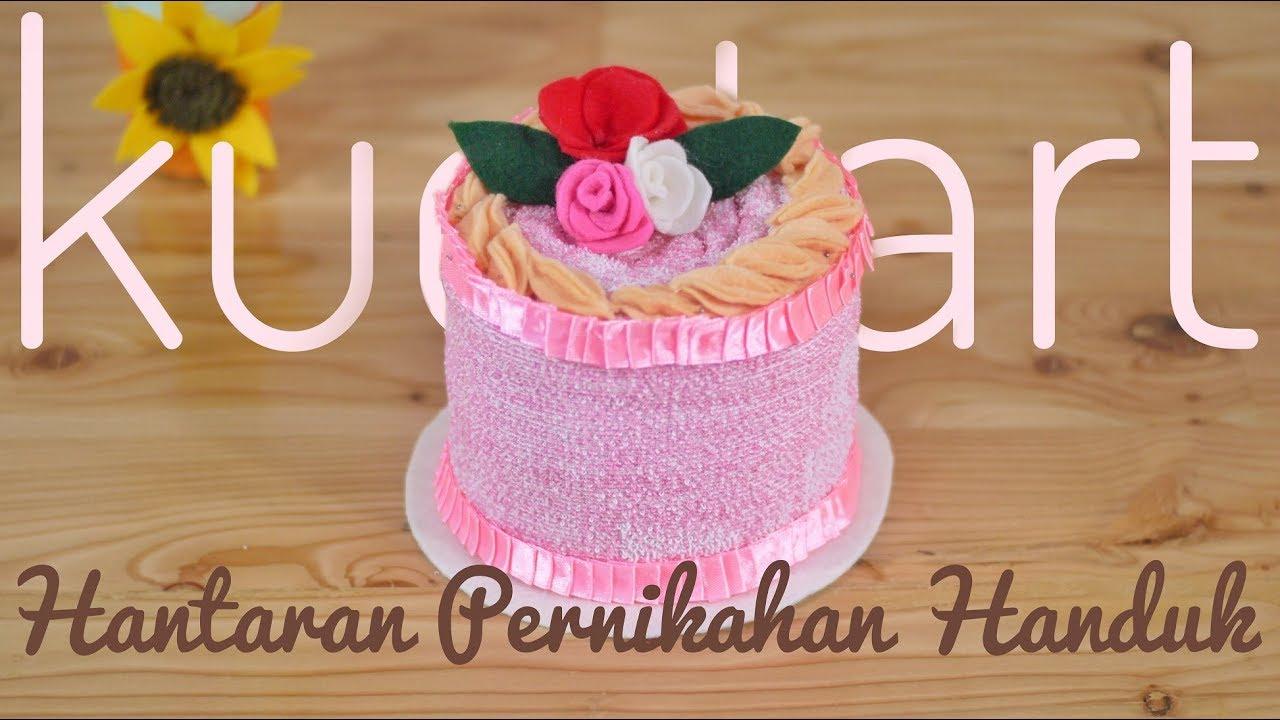 Tutorial Menghias Hantaran Handuk Menjadi Kue Tart How To Make Towel Tart Cake
