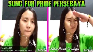 """Song For Pride Persebaya"" Cece Cantik Karaoke an Lagu wajib Bonek"