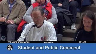 Regular Meeting of the Board of Education - November 14, 2017
