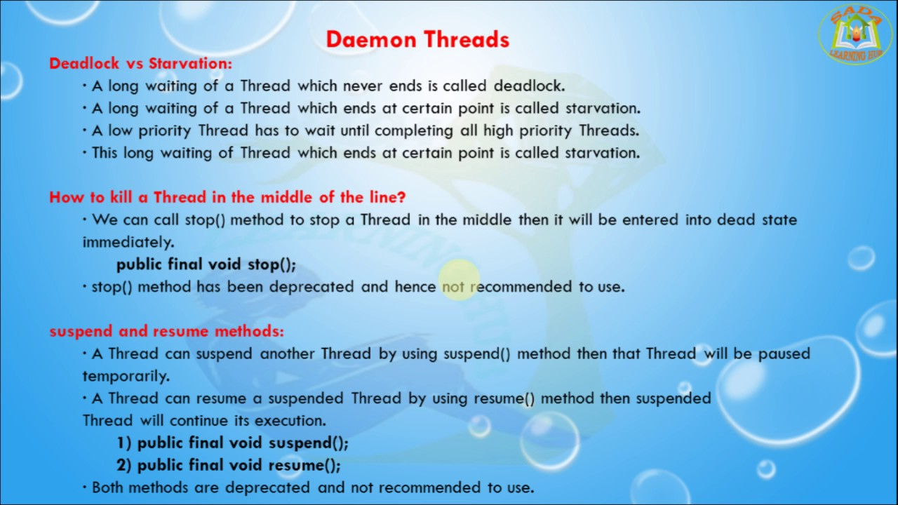lesson 9 threads daemon threads in java programming language