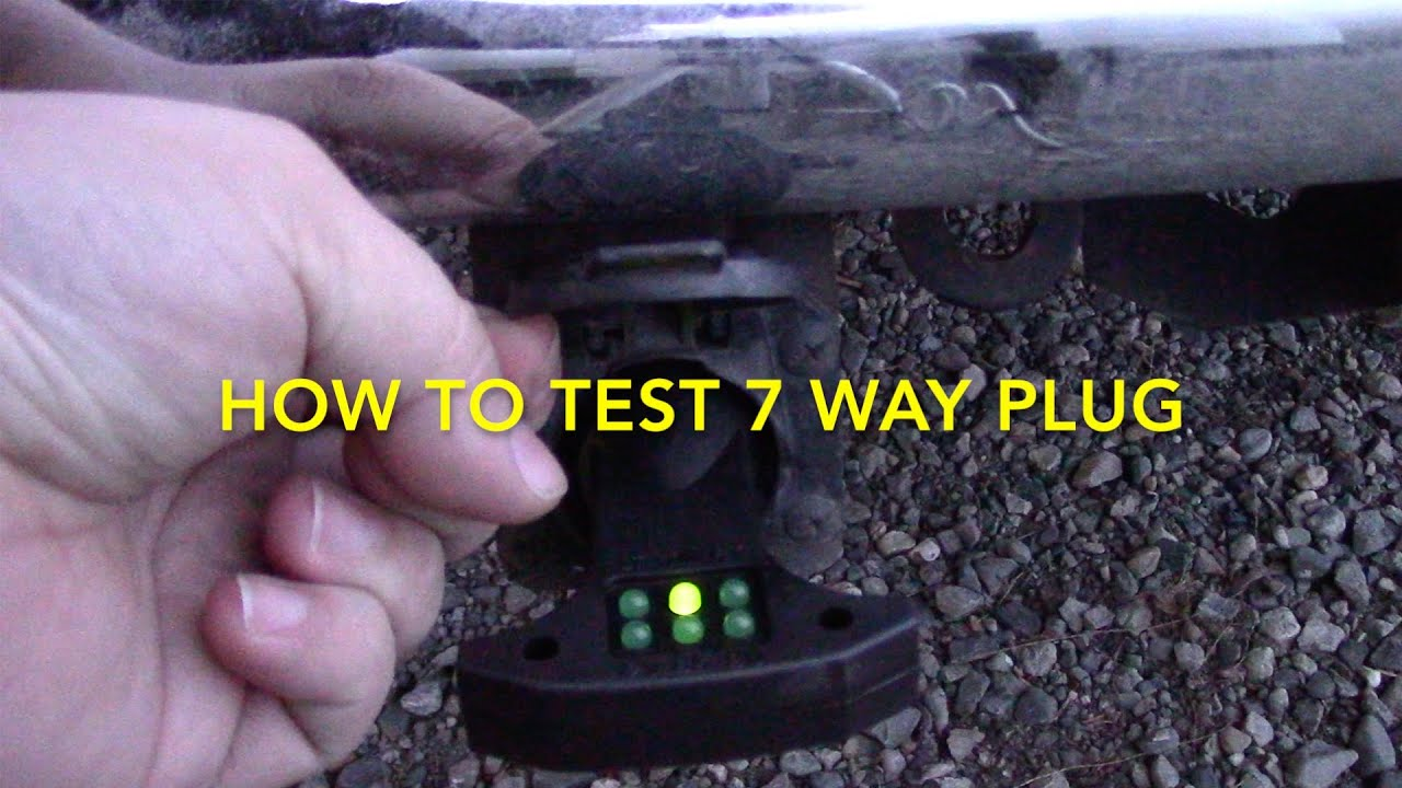 trailer wiring harness diagram 7 way honda xr 125 how to test rv electrical plug youtube