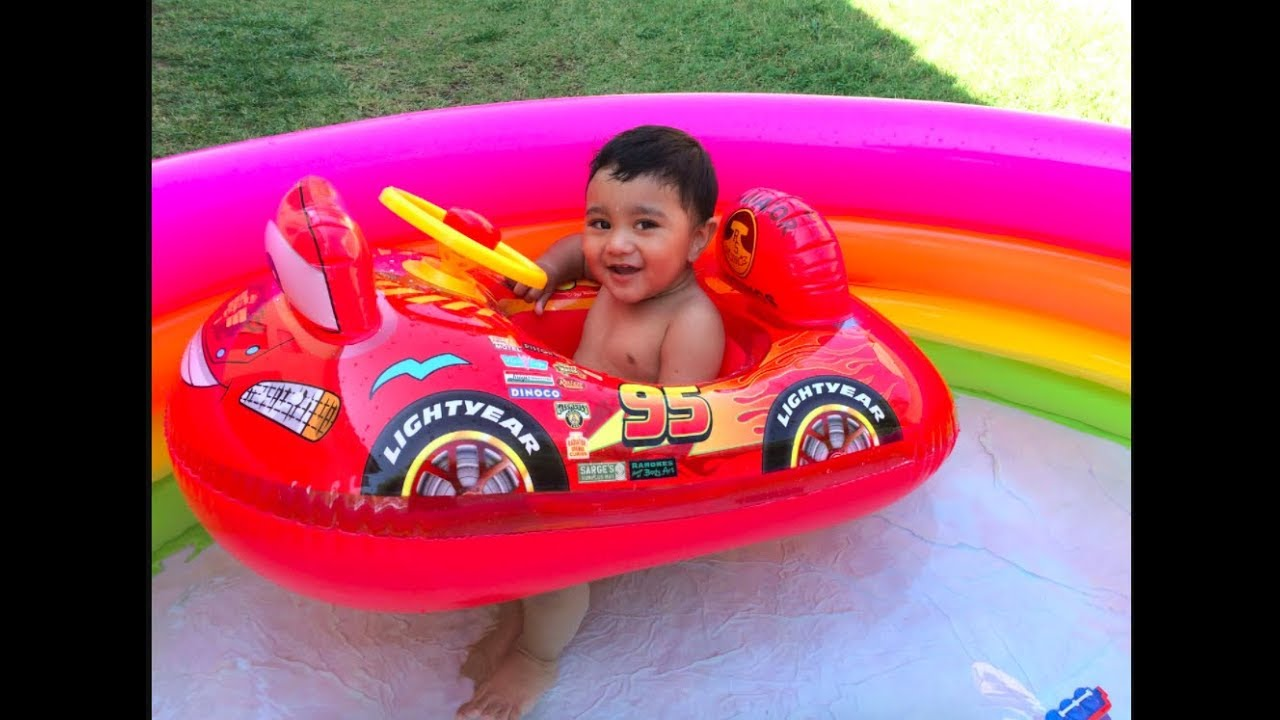 Disney Cars Lightning Mcqueen In Swimming Pool Thomas And Friends Toys Percy Color Changer Youtube