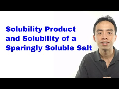 Solubility Product And Solubility Of A Sparingly Soluble Salt