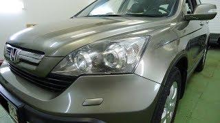 Honda CR V светодиодные фары  Установка светодиодных линз в Хонда Срв  Тюнинг срв