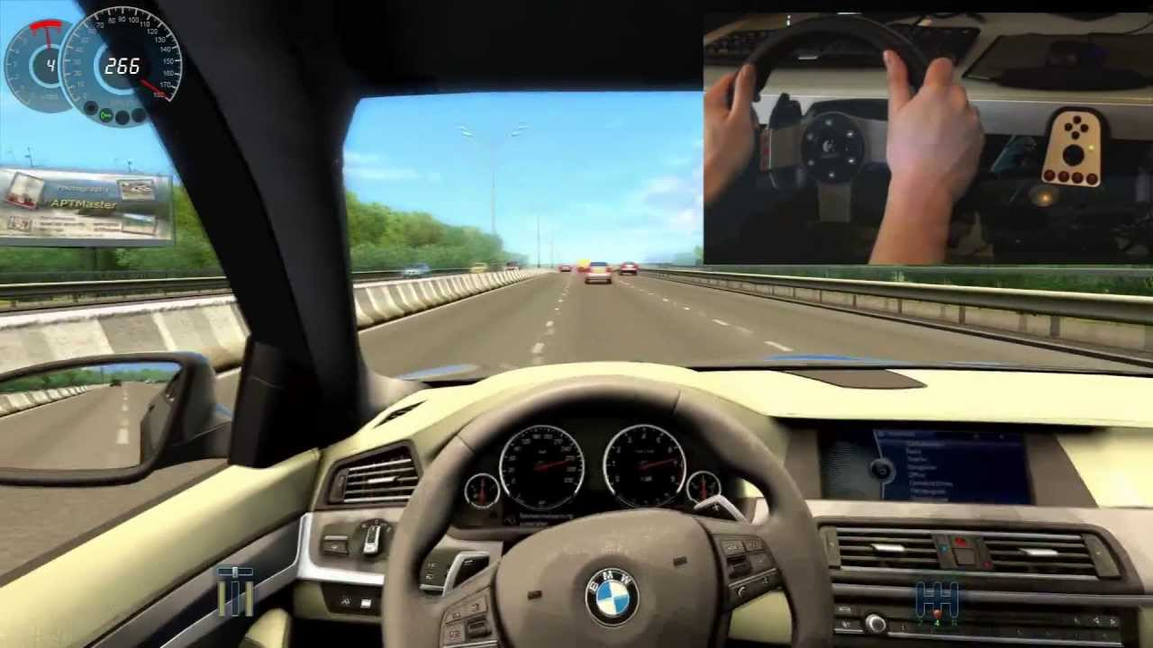 bmw m5 f10 city car driving simulator g27 300 km h big. Black Bedroom Furniture Sets. Home Design Ideas