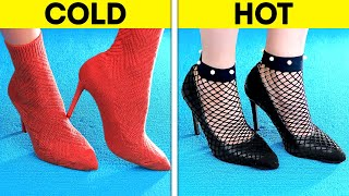 DIY FASHION LOOK TUTORIAL  Trendy Clothing Hacks And Shoe Tricks To Enhance Your Beauty