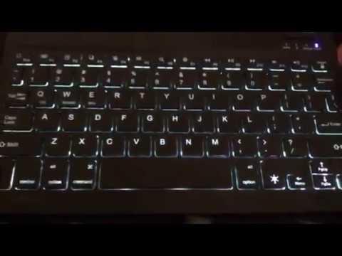 c315b41fd22 TeckNet Universal Slim Backlit Led Portable Keyboard Review - YouTube