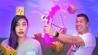 Minecraft Enchanted Bow Lucky Blocks in REAL LIFE