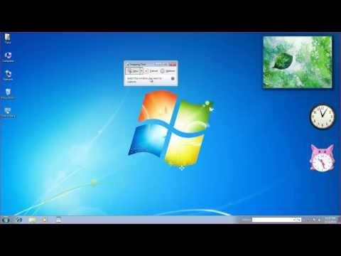 Screenshot in windows 7 tool
