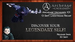 Archeage Unchained - 13 September Livestream Recap & Twitter Quotes