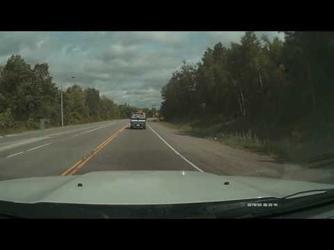 Superior textiles company truck cutting me off on HWY 12 between Midland and Orillia first time