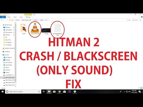 Hitman 2 Crash and Black Screen (Sound Only) Fix - YouTube
