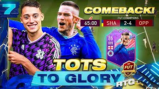 UNBELIEVABLE COMEBACK ON OUR ROAD TO 30-0!! TOTS TO GLORY RTG EP7 | FIFA 21 ULTIMATE TEAM