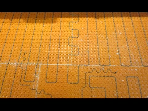 Ditra Heat, electric floor heat how to install it start to ... on