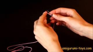 Амигуруми - уроки вязания. Урок №2. Воздушная петля. Цепочка из воздушных петель.