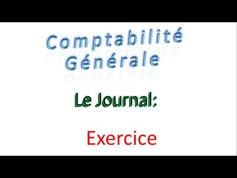 8 - comptabilité générale - Le journal - Exercice 1