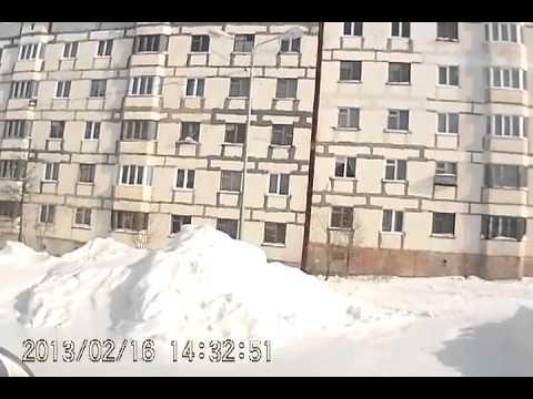 Оха через объектив видеорегистратора.16.02.13.
