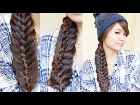 Woven Fishtail Braid Hairstyle | Hair Tutorial