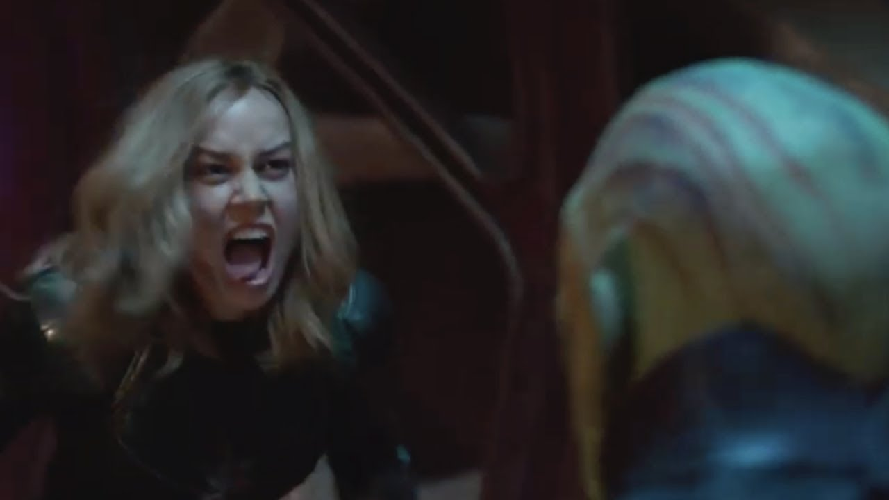 Captain Marvel Skrull Fight Tv Spot Youtube
