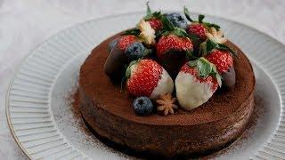 極旨!ベイクドチョコレートチーズケーキ| Baked Chocolate Cheesecake ...