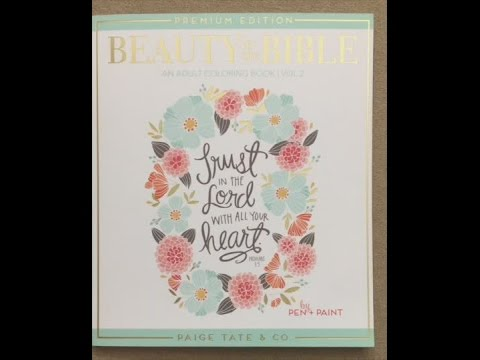 Beauty In The Bible An Adult Coloring Book Premium Edition Flip Through