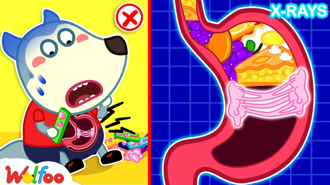 Download Wolfoo, Don't Swallow Gum!- Food Will Be Stuck in Stomach - Healthy Habits for Kids | Wolfoo Channel