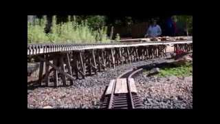 The Falls Creek & Boulder Garden Railroad: Scenes & Cab Ride.