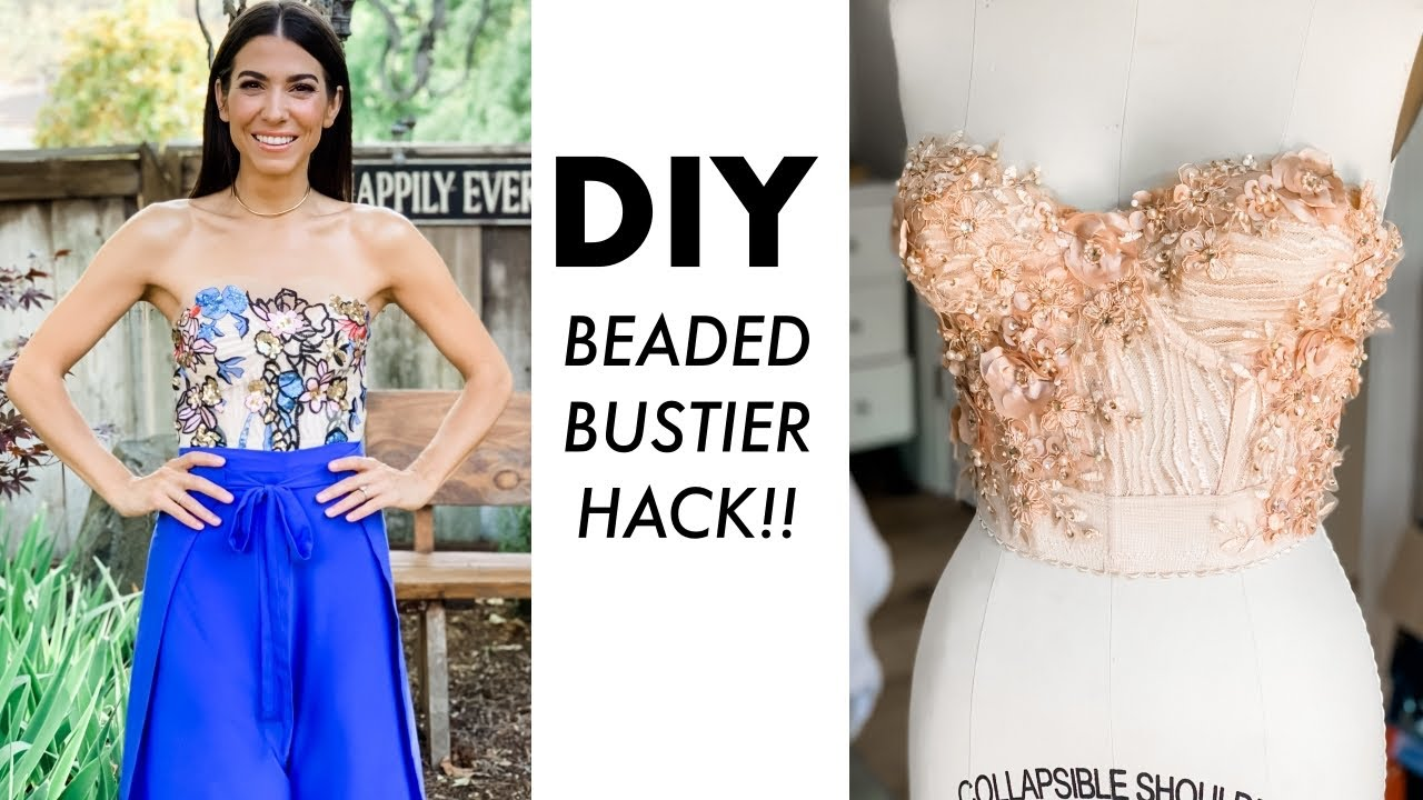 DIY: Beaded Bustier HACK! (Super Easy!!) -By Orly Shani