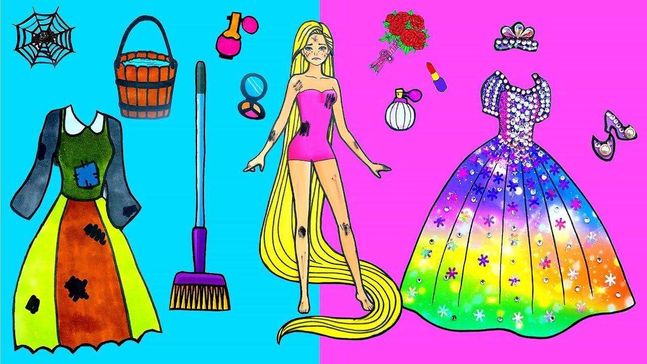 Paper Dolls Dress Up - Costumes Rapunzel Dresses Handmade ...