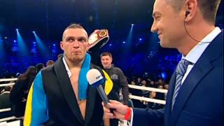 Big boxing ! Interview. O. Usyk !