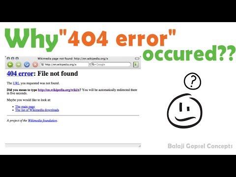 Why 404 Error Occurs? || GK || Balaji Gopsel Concepts