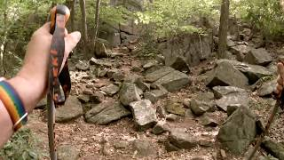 Scramble up Diamond Mountain, Harriman State Park NY 7/14/18