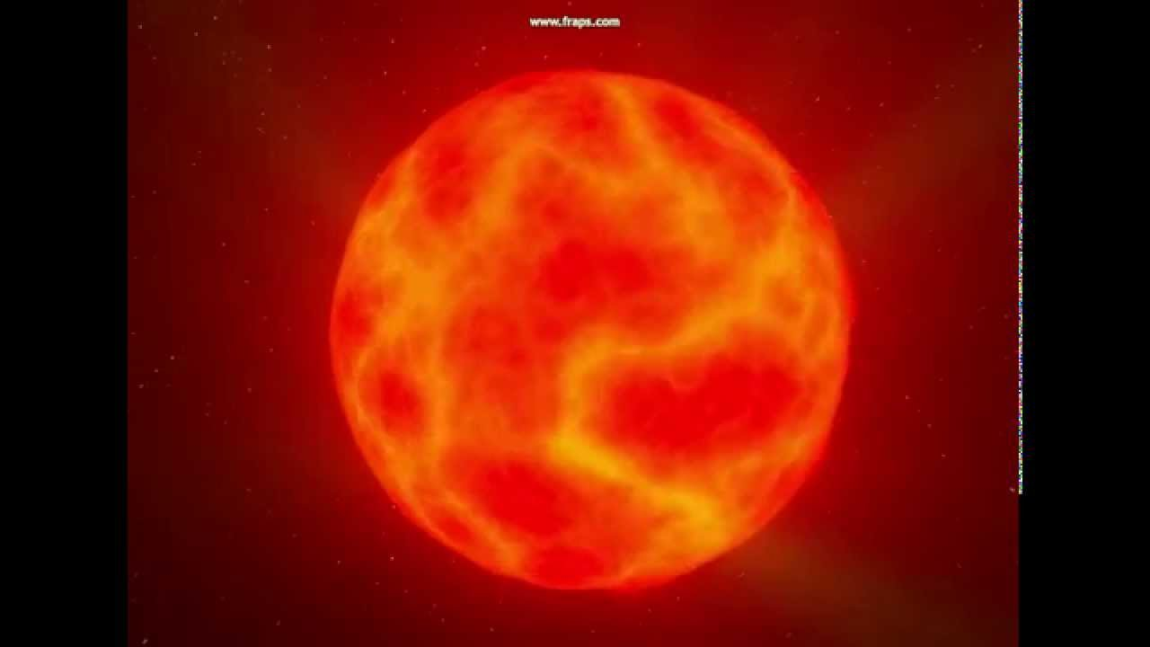 A red dwarf star - YouTube