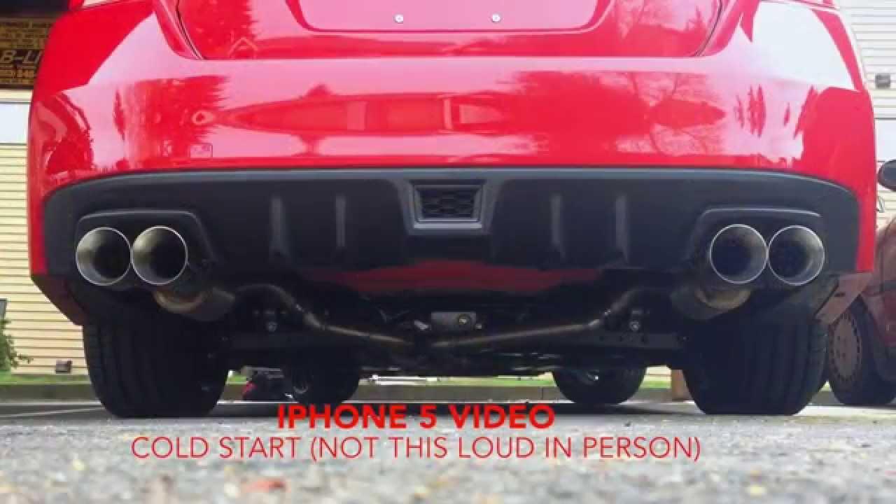 2015 Subaru Wrx With Nameless Performance Catback Exhaust