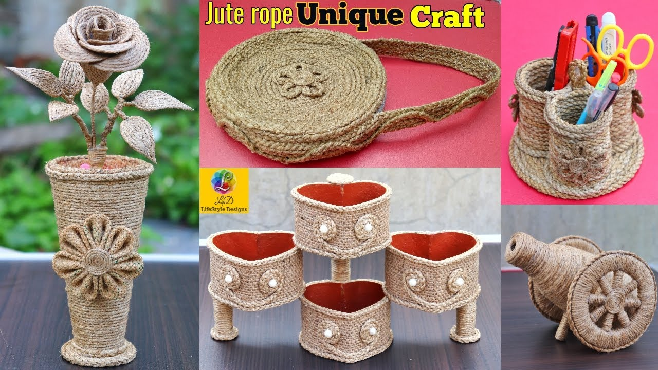 5 Best Jute Craft Ideas Home Decorating Ideas Handmade