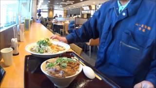 東名高速下り日本坂PA 頑力半豚丼セットを食す