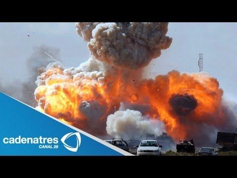 Impresionante impacto de misil en Siria (VIDEO) / Awesome missile impact in Syria